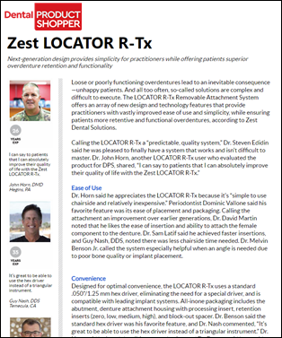 Dental Product Shopper evaluates LOCATOR R-Tx